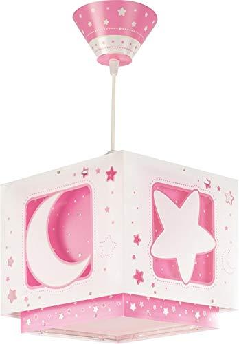 """Dalber 63232S Lampadario""""Luna"""", per bambini, Colore Rosa, lampadina a incandescenza, plastica"""