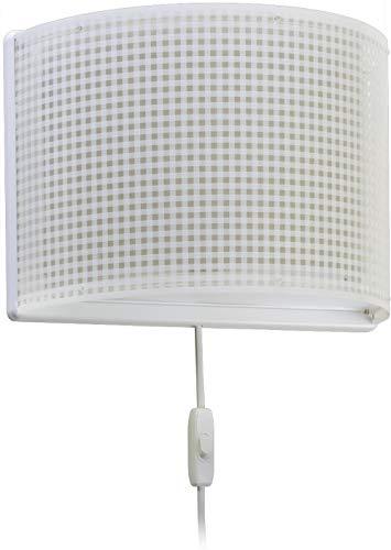 Dalber - Lampada da parete E-27, Beige, Multicolore, 31 x 14.5 x 22.5