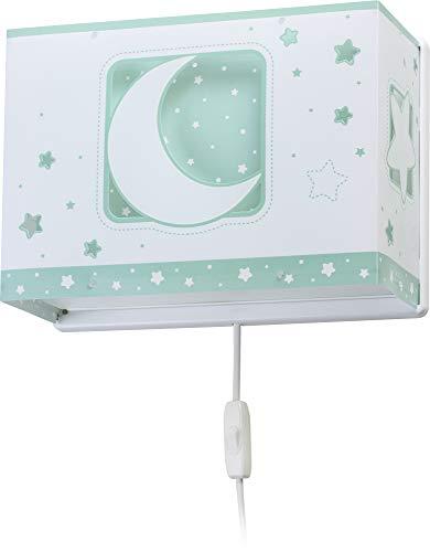 Dalber - Lampada da parete E-27, Chiaro di luna verde, Multicolore, 31 x 13 x 22.5