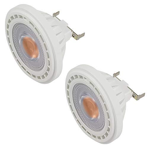 DASKOO 2 pezzi G53 12W (95W Equivalenti) AR111 Lampadine a LED COB Riflettore Bianco Caldo 3000K, AC 85-265V, 1200LM