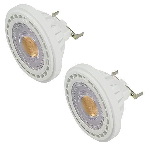 DASKOO 2 pezzi G53 AR111 Lampadine a LED Faretto COB 12W, (equivalenti a 95W), luce Bianca Neutro, 4000K, AC 85-265V 1200LM