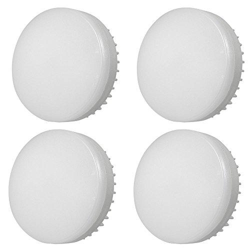 DASKOO - Confezione da 4 lampadine a LED GX53, 12 W = 95 W, in alluminio + PC, luce bianca calda, 1200 lm, AC 85-265 V