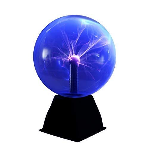DAXGD Lampada a sfera al plasma, luce al plasma magica da 5 pollici, sfera al plasma sensibile al tocco con lampada statica a sfera, 220 V, luce blu