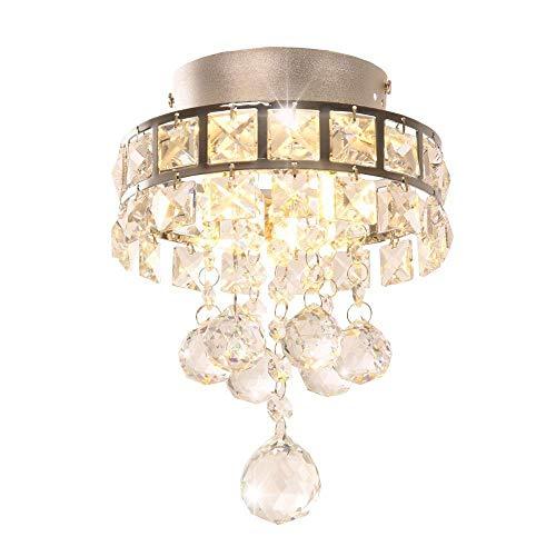 DAXGD Lampadari di cristallo, mini lampade a sospensione con 3 luci per corridoio, camera da letto, cucina, camera dei bambini