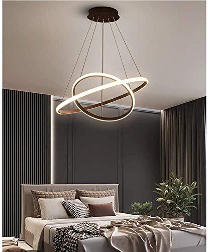 DAXGD Lampadario a LED Moderno, Lampada a Sospensione a LED Nera Circolare, Illuminazione a lampadario a LED 28W, Diametro 40 cm, Nero
