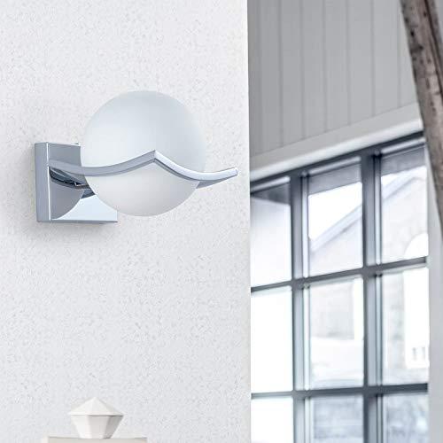 DAXGD LED Luci sfera di vetro Lampade da parete, Moderno Applique da Parete Interno, Lampade da parete a LED per camera da letto, soggiorno, corridoio, E27, Diametro: 15CM