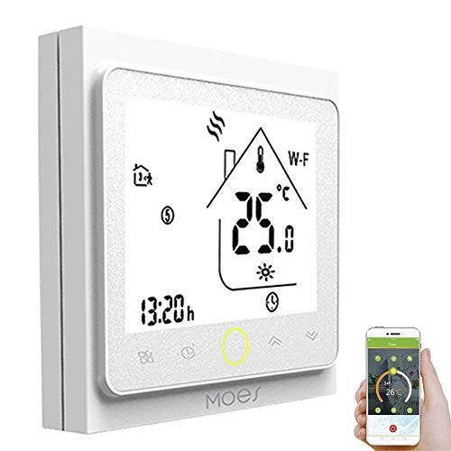 Decdeal Termostato Programmabile per Riscaldamento dell'Acqua GA,Thermostat Intelligente WiFi Supporto App/Controllo Vocale, GA, Compatibile con Alexa/Google Home