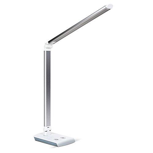 Deckey Lampada da Scrivania LED Lampada da Tavolo Pieghevole Dimmerabile 4W-10W, 4 Livelli Intensità Dimmerabili di Luce con Controllo Touch