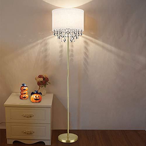 Depuley - Lampada a stelo a LED G9, in cristallo, luce bianca calda, attacco E27, con lampadina da 9 W, 720 lm, 3000 K, 100 – 240 V, per divano, camera da letto, sala da pranzo, studio