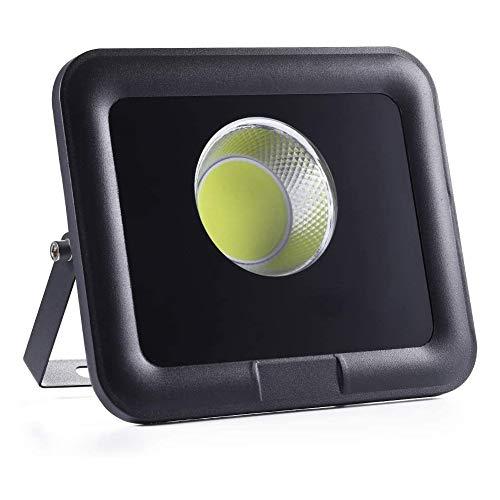Dersoy Faretto LED da Esterno 50W, 5000lm Lampada Luce Potente Bianco freddo 6500K,faro led Impermeabile IP66,Giardino,per garage,parcheggio,patio,strade, [Classe di efficienza energetica A++ ]