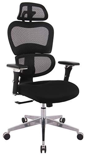devil ray - Sedia da ufficio girevole, ergonomica, colore: Nero