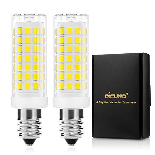 DiCUNO E14 4W LED Lampadina dimmerabile, Bianco freddo 5000K, 430LM, 220V, Forno a microonde, Lampadine alogene equivalenti da 40W, Base E14 standard, 2 pezzi