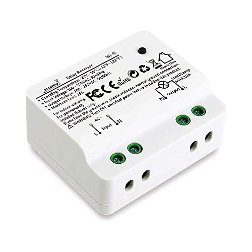 Didikit Interruttore WiFi Alexa, 15A 3300W Smart Timer Switch Interruttore Intelligente Telecomando Senza Fili con Telefono App Android iOS, Controllo Vocale con Alexa Echo, Google Home, IFTTT