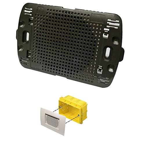 Diffusore audio sonoro da incasso per scatola cassetta 503 a parete altoparlante nero placca living light incluso LN4703 per amplificatore