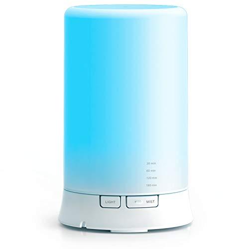 Diffusore di aromi e umidificatore a ultrasuoni, con 7 luci LED di colore cangiante. Per l'aromaterapia in casa, in ufficio e nei centri di bellezza