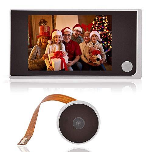 Digital Door Viewer, 3,5 Pollici Schermo LCD a Colori per Interni HD Smart Monitor, spioncino da Esterno con Campanello, Nero