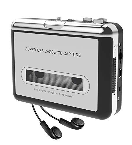 DIGITNOW! Portatile registratore a cassetta & Audio Cassetta Nastro, Walkman e Convertitore di Audiocassette in File Digitali MP3 via USB ,Compatibile Mac e Windows