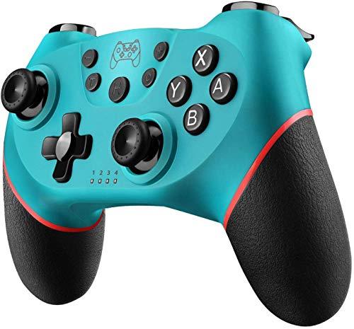 Diswoe Controller Wireless per Nintendo Switch,Switch PRO Controller Bluetooth,Bluetooth Switch Controllere con la Funzione Gyro Axis Dual Shock Vibrazione Screenshot,per Mario Zelda ect