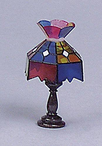 Dolls House Miniatura Lampada di Tiffany Lampada da Tavolo per Coridor Soggiorno