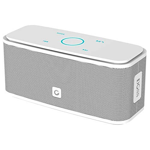 DOSS SoundBox Cassa Bluetooth 12W, Altoparlante Senza Fili Portatile Speaker, Pulsanti Touch, Suono Stereo, Microfono Integrato, Slot per Scheda TF, AUX-IN, 12 ore di Autonomia [Bianco]