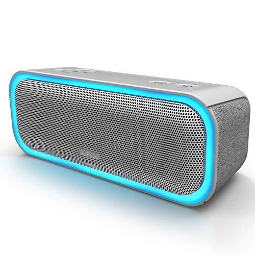 DOSS SoundBox Pro Cassa Bluetooth Altoparlante 20W Senza Fili, Speaker Portatile, Cassa Wireless Bluetooth 4.2 con TWS,LED Colorato,Tempo di Riproduzione di 12 Ore, Grigio
