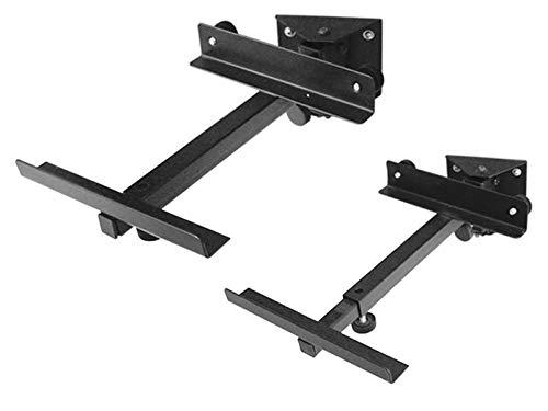DRALL INSTRUMENTS 2 pezzi (1 coppia) Altoparlanti Supporto da parete nero - fino a 15 kg di carico - Porta diffusori per diffusori home cinema hi-fi - inclinabile e girevole inclinabile inclinabile - Montaggio a parete Modello: BH2B