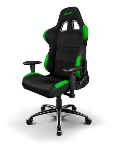 Drift DR100 - DR100BG - Silla Gaming, Color Negro/Verde