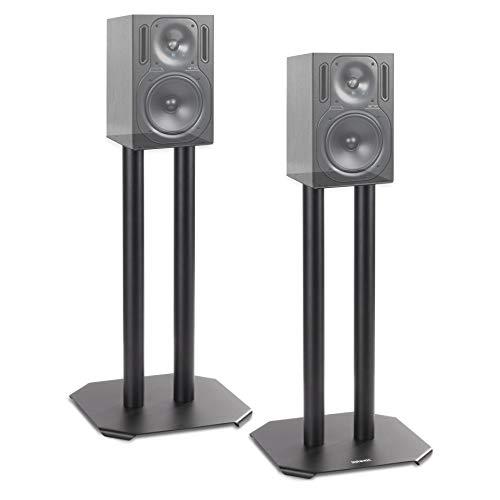 Duronic SPS1022 /40 Supporti per casse acustiche - Altoparlanti da terra - 40 cm di altezza - Riempimento con sabbia - Supporto antivibrazione - Ideale per impianti Hi-Fi/Stereo/Home Cinema 5.1