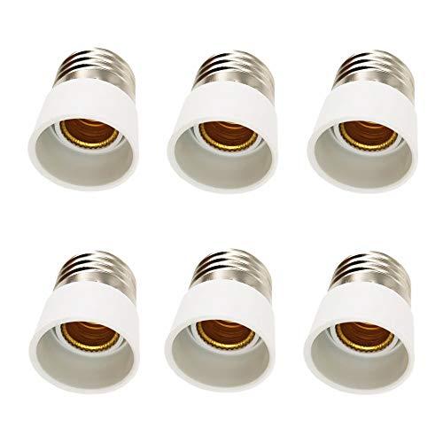 DZYDZR 6pcs Conversione Portalampada E27 a E14 Adattatore Adatto Per Lampadine a LED