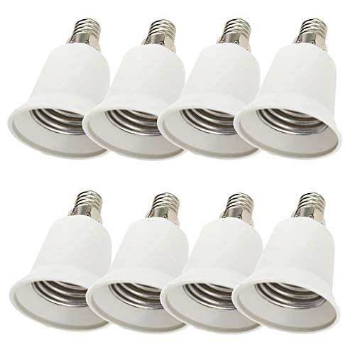 DZYDZR 8pcs Conversione Portalampada E14 a E27 Adattatore Adatto Per Lampadine a LED