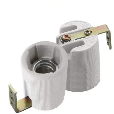 E14-F - Zoccolo portalampada in ceramica per cavo 230V per alta tensione, certificato CE 1 Stück