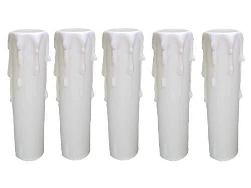 E14 portalampada ~ candela 85 mm plastica bianco
