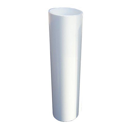 E14 - Portalampada per candela, 3 pezzi, lunghezza 85 mm, ø 26,5 mm, in plastica liscia, colore: Bianco