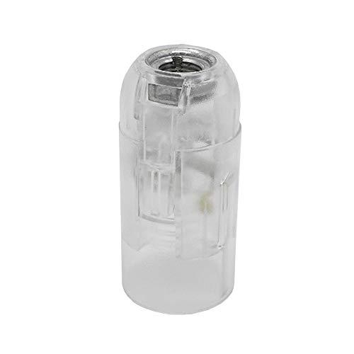 E14 Presa trasparente in materiale termoplastico trasparente M10x1 Attacco filettato per lampada a incandescenza e LED con filettatura