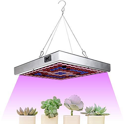 Eachbid Lampada per Piante Crescita Luce Coltivazione LED Grow Light 45W 144 LEDs Interno Spettro Completo per Semina Fioritura