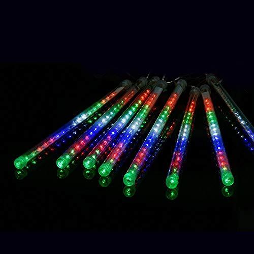 Ecloud Shop® - Ghirlanda luminosa a LED, 30 cm, 8 tubi LED, per pioggia, pioggia, ghiaccio, neve, autunno, impermeabile, per feste, Natale, albero di Natale, albero di San Valentino (colorato)