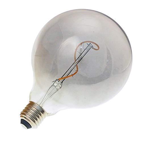 ECOBELLE® Lampadina decorativa LED Smoky a filamento, forma grande globo G125, attacco E27, consumo solamente 3W. Lampadina dimmerabile/regolabile