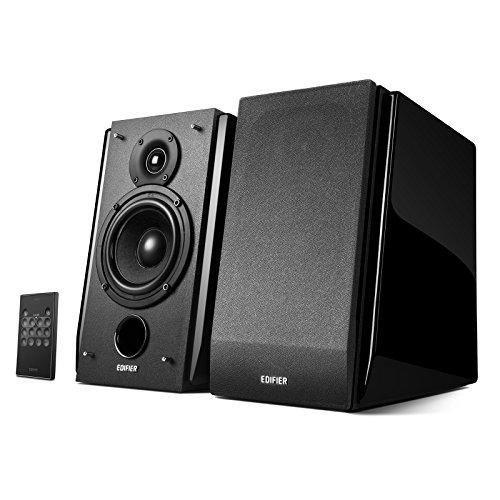 Edifier R1850DB Diffusori da Scaffale Attivi con Ingresso Bluetooth e Ottico - Monitor da Studio 2.0 - Amplificatore integrato con Linea Subwoofer Out