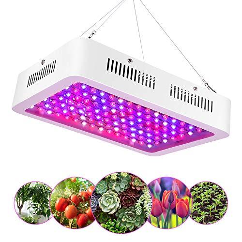 eecoo 1200W Lampada LED per Piante, Spettro Completo 120 LEDs Luci per Piante Inclusi UV e IR, Luci di Crescita a LED Ideale per Piante da Interno