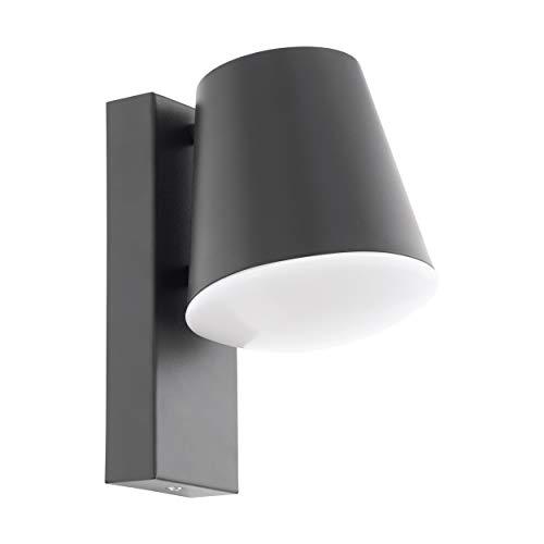 Eglo Caldiero - Lampada da parete in acciaio zincato, 10 W, colore: antracite