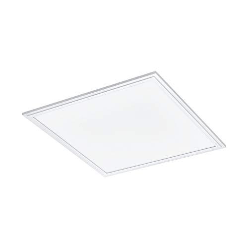 EGLO connect, plafone LED SALOBRENA-C, plafoniera Smart Home, materiale: alluminio, plastica, colore: bianco, 45 x 45 cm, dimmerabile, tonalità e colori del bianco regolabili