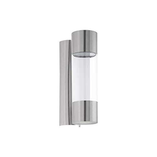 Eglo - Lampada da parete per esterni Robledo a 2 luci, in acciaio inox e plastica, IP44