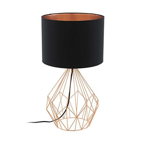 EGLO PEDREGAL 1 lampada da tavolo Nero, Rame E27 60 W