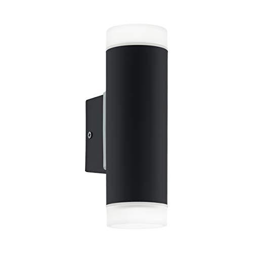 Eglo RIGA LED–lampada da parete, in acciaio zincato, 5W, colore: nero