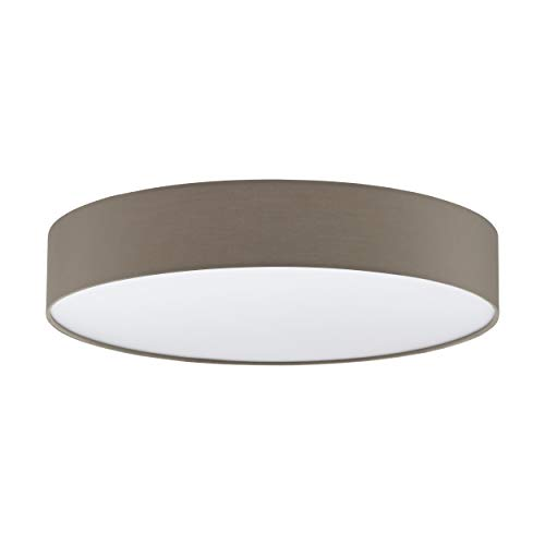 Eglo ROMAO 3, acciaio, 40 W, bianco, Acciaio Tessile Plastica, bianco, Ø 57 cm