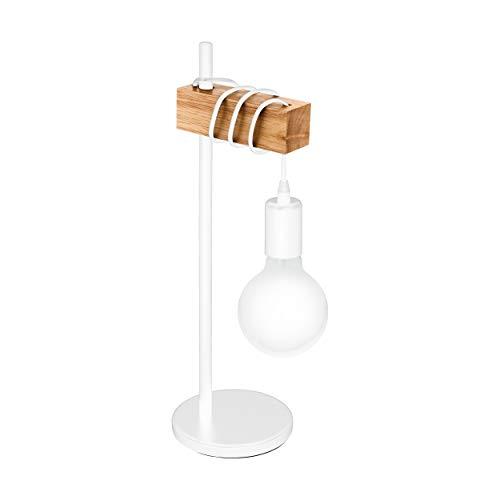 EGLO TOWNSHEND - Lampada da tavolo in acciaio, 10 W, colore: bianco