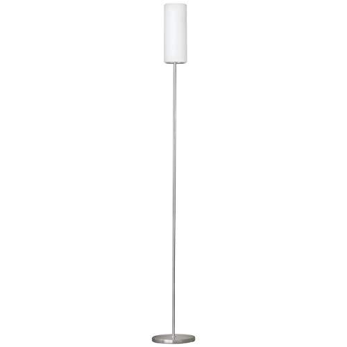 Eglo Troy 3 Lampada da Terra E27, 100 W, Bianco e Cromo, 153 x 10.5 centimeters