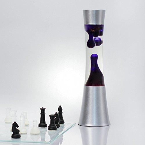 Elegante lampada lava cera viola cera SANDRO H:39cm lampada da tavolo umore lampada da tavolo retrò soggiorno camera da letto adolescente
