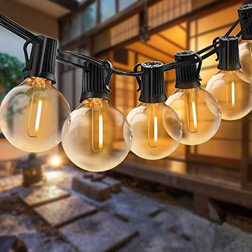 Elegear LED Catena Luminosa 30+3 Filo Luci Esterno Professionali IP65 Impermeabile G40 illuminazione Giardino per Festa, Matrimonio, Party Decorazioni di Nozze