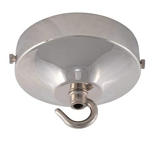 ElekTek Rosone lampadario con gancio, concavo, diametro 100 mm - Per il montaggio di lampade e lampadari - Finiture metalliche e verniciatura a polvere